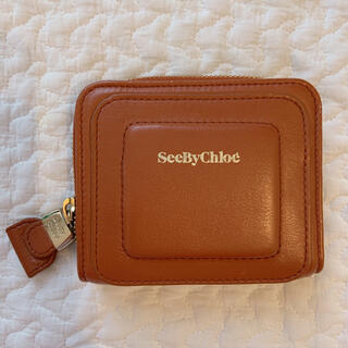 シーバイクロエ(SEE BY CHLOE)の【即購入可】SEE BY CHLOE  折り財布  コンパクト ベージュ(財布)