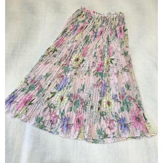 エイチアンドエム(H&M)のタグ付新品♡H&M 花柄ロングプリーツスカート (ロングスカート)