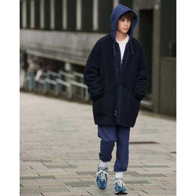 Engineered Garments(エンジニアードガーメンツ)のユニクロ エンジニアドガーメンツ フリースコート Lサイズ メンズのジャケット/アウター(ブルゾン)の商品写真