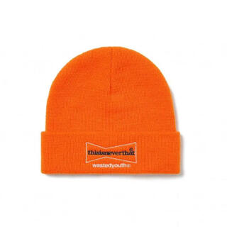 GDC - thisisneverthat wasted youth Beanie オレンジ