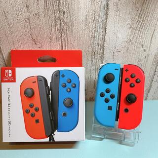 ニンテンドースイッチ(Nintendo Switch)の美品 人気カラー ブルー レッドSwitch 左右セットジョイコンJoy-Con(その他)