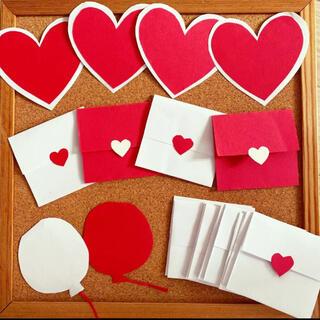 レッド×ホワイト*メッセージカードセット(カード/レター/ラッピング)
