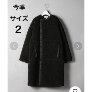ハイク(HYKE)の新品♡今季 希少 HYKE ハイク ボアコート  ブラック 2(ロングコート)