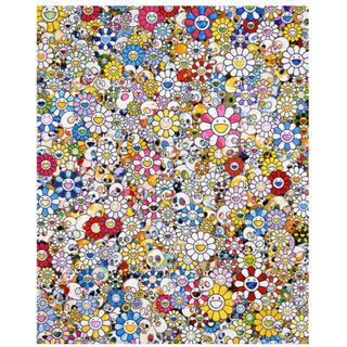 Skulls & Flowers Multicolor 村上隆 ポスター 300(版画)