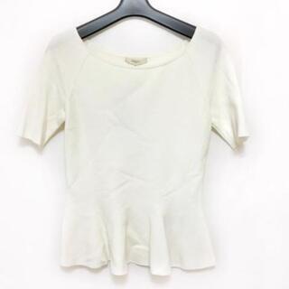 エポカ(EPOCA)のエポカ 半袖セーター サイズ40 M美品  - 白(ニット/セーター)