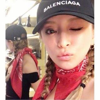 Balenciaga - 浜崎あゆみ着♥BALENCIAGA♥元4.5万♥黒キャップ♥NIKE ヴェトモン
