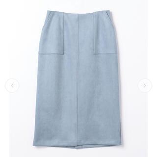 ストラ(Stola.)のスエードシンプルタイトスカート(ひざ丈スカート)