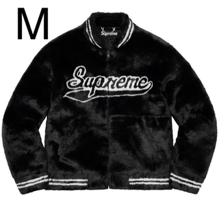 シュプリーム(Supreme)のM Supreme Faux Fur Varsity Jacket Black(ブルゾン)