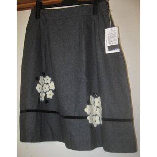 ギャラリービスコンティ(GALLERY VISCONTI)の未使用タグ付きギャラリービスコンティの花刺繍の可愛いスカート◇サイズ3(ひざ丈スカート)