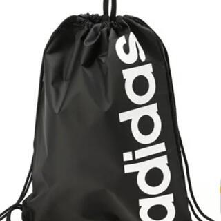 adidas - アディダス リニアロゴバッグ 黒 ジムサック