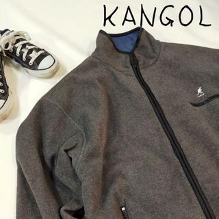 カンゴール(KANGOL)のKANGOL カンゴール リバーシブル ブルゾン グレー ブルー フリース(ブルゾン)