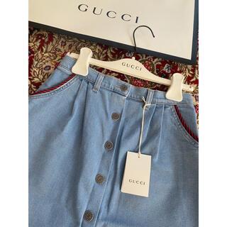 グッチ(Gucci)のGUCCIデニムスカート♡チルドレン大人着用可(ミニスカート)