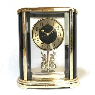 セイコー(SEIKO)の置時計【QZ673G】《セイコー クオーツ 回転振り子 記念品 ★中古》(置時計)
