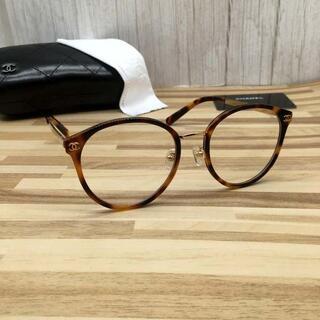 CHANEL -  シャネル メガネ 鼈甲フレーム ココマーク2133