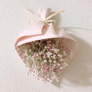 ピンク×ホワイト かすみ草ミニブーケ(ドライフラワー)