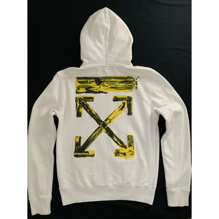 オフホワイト(OFF-WHITE)のOFF-WHITE ACRYLIC ARROWSSLIMHOODIE WHITE(パーカー)