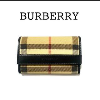 バーバリー(BURBERRY)のburberry  バーバリー キーケース チェック柄 PVC レザー(キーケース)