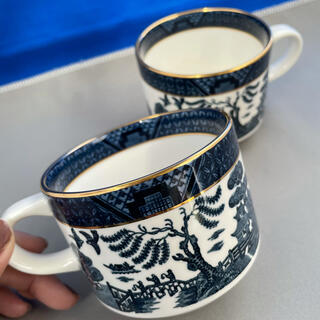 ニッコー(NIKKO)の【美品】ニッコー ダブルフェニックス 山水 マグカップ 2個 金縁(食器)