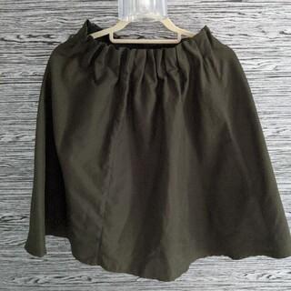 シマムラ(しまむら)のカーキひざ丈 ふんわりスカート(マタニティボトムス)