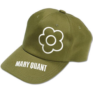 マリークワント(MARY QUANT)の新品 マリークワント デイジー刺繍キャップ 帽子 カーキ(キャップ)
