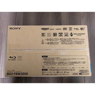 SONY - SONY ソニー ブルーレイ レコーダー BDZ-FBW2000 新品未使用品