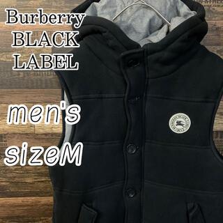 BURBERRY BLACK LABEL - Burberry ブラックレーベル ワンポイント ロゴ 中綿 ダウン ベスト