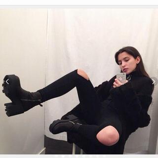 """ユニフ(UNIF)の美品★UNIF ユニフ  """"Rival boots"""" 厚底ブーツが可愛過ぎ❤️✨(ブーツ)"""
