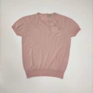 ボールジィ(Ballsey)のボールジイ Mサイズ相当 ニット ピンク トップス 半袖 クルーネック ウール(ニット/セーター)