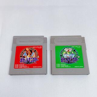 ゲームボーイ(ゲームボーイ)のゲームボーイソフト ポケモン赤 緑 2つセット(携帯用ゲームソフト)