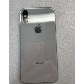 アイフォーン(iPhone)のiphoneX Silver 256 GB Simフリーバッテリー100%(スマートフォン本体)