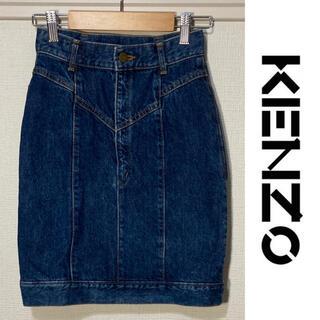 ケンゾー(KENZO)のKENZO デニムスカート ヴィンテージ インディゴ ケンゾー jeans 良好(ひざ丈スカート)