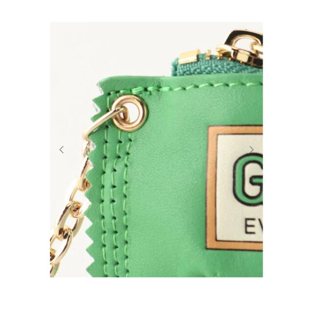 DEUXIEME CLASSE(ドゥーズィエムクラス)のGOOD GRIEF  GOOD BITE MINI CASE  グリーン レディースのファッション小物(キーホルダー)の商品写真