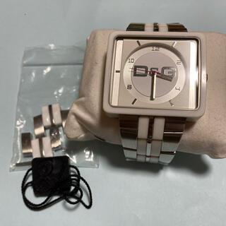ドルチェアンドガッバーナ(DOLCE&GABBANA)の電池新品  D&G TIME ドルチェ&ガッバーナ 腕時計(腕時計)