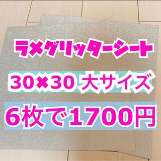 うちわ用 規定外 対応サイズ ラメ グリッター シート シルバー 6枚(男性アイドル)