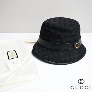 Gucci - 新品2021SS GUCCI ダブルG付き GGキャンバス バケットハット