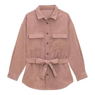 ジーユー(GU)のGU コーデュロイベルテッドオーバーサイズシャツ 新品(シャツ/ブラウス(長袖/七分))
