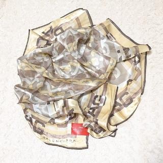 バレンシアガ(Balenciaga)の《未使用》シルク100% BALENCIAGA 88㎝ スカーフ(バンダナ/スカーフ)
