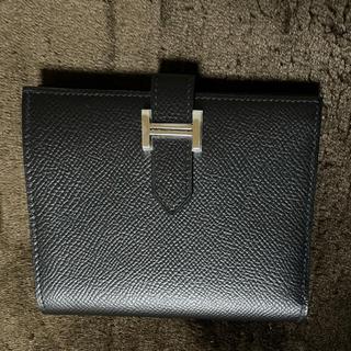 エルメス(Hermes)のHERMES べアンコンパクト シルバー金具(財布)
