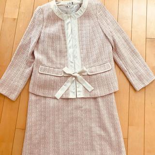 モンさん専用卒業式・入学式eur3エウルキューブ サテンリボンスーツ13号ピンク(スーツ)