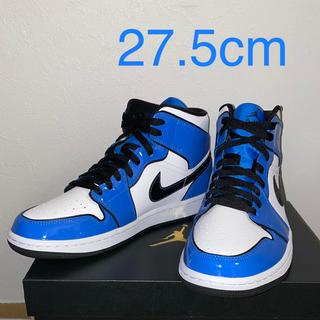 ナイキ(NIKE)のNIKE AIR JORDAN1 MID SIGNAL BLUE 27.5cm(スニーカー)