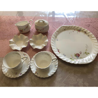 ニッコー(NIKKO)の(値下げ)NIKKO アラカルトプレート マグカップ クリーマー 砂糖入れ 小皿(食器)