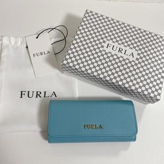 Furla - フルラ FURLA★6連キーケース★ブルー★青★水色