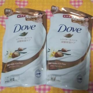 ユニリーバ(Unilever)のダヴ ボディウォッシュ シアバター&バニラ つめかえ用(340g)(ボディソープ/石鹸)