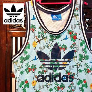 adidas - アディダス タンクトップ 花鳥風月 ジャージ アロハシャツ Tシャツ 花柄