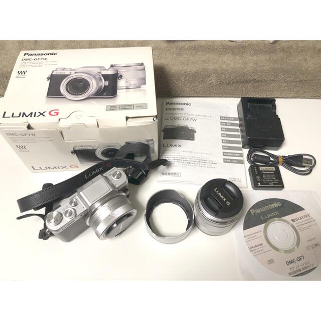 Panasonic(パナソニック)のPanasonic LUMIX G デジタル一眼カメラ DMC-GF7W スマホ/家電/カメラのカメラ(デジタル一眼)の商品写真