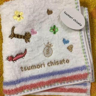 TSUMORI CHISATO - ツモリチサト タオルハンカチ 猫お花