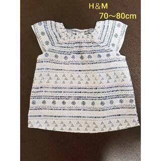 エイチアンドエム(H&M)のエイチアンドエム ノースリーブ 半袖 Tシャツ トップス 女の子 70 80(シャツ/カットソー)