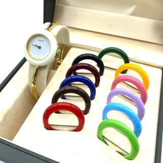 グッチ(Gucci)のten10様専用です 美品☆GUCCIチェンジベゼル Mサイズ レディース腕時計(腕時計)