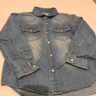 ジーユー(GU)のデニムシャツ ダンガリーシャツ 110 GU 男の子 キッズ 女の子(ブラウス)
