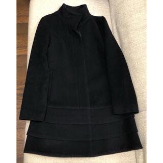 M-premier - エムズセレクト エムプルミエ 黒 コート 36 毛90% カシミヤ10%
